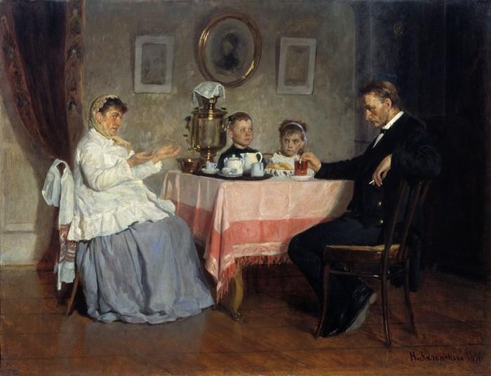 русское чаепитие картина