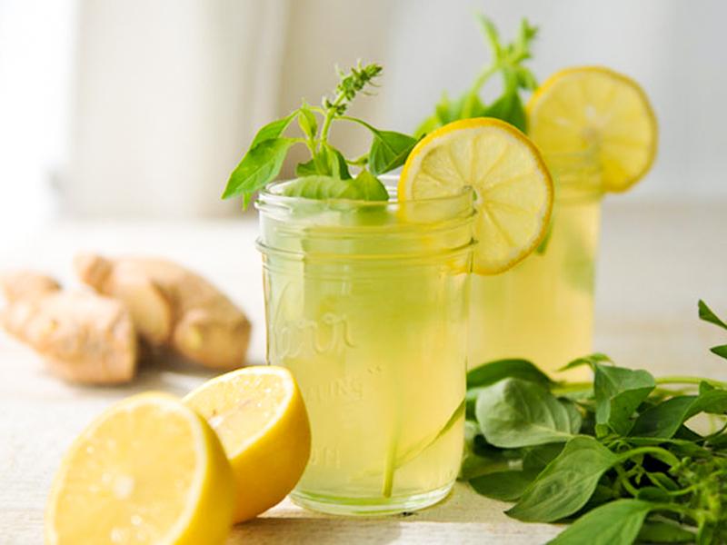 чай, лимон, имбирь и мята