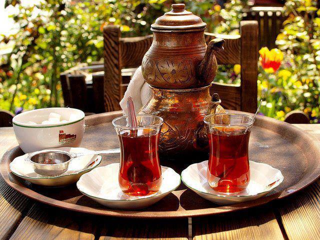 чай на водяной бане