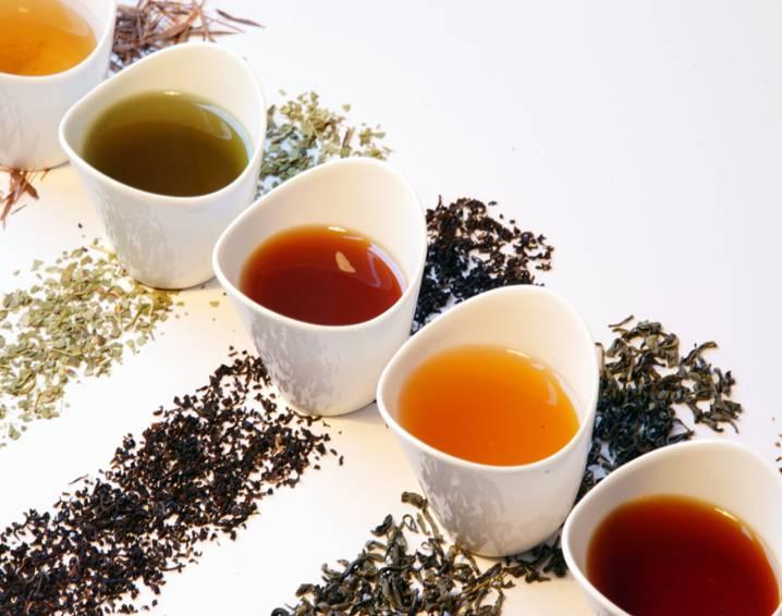 разнообразные виды чаев