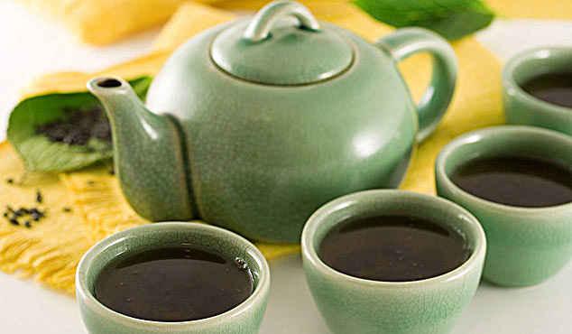 чайный сервиз салатового цвета