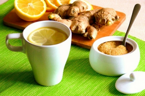 готовим чай с имбирем