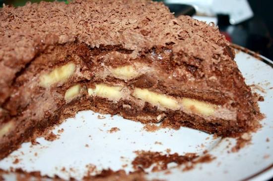 тортик с бананом