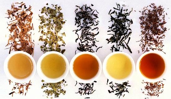 цветовая гамма чая