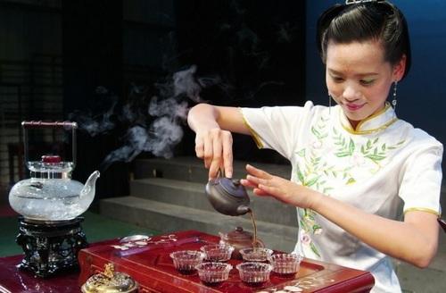 чайная церемония девушка