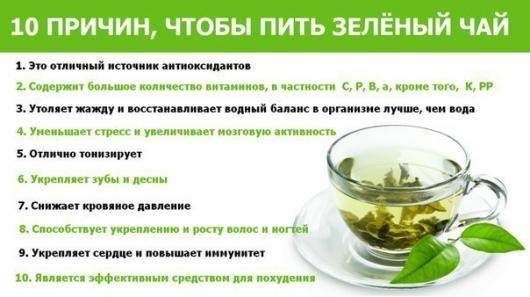 основные причины чтобы пить зеленый чай