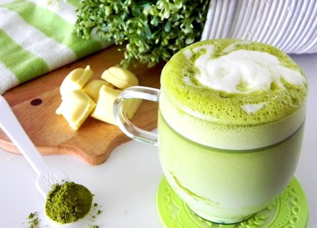 зеленый чай с пенкой