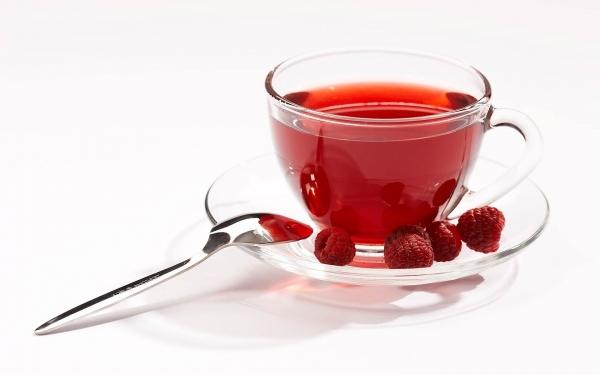 Чай с малиной при простуде картинки